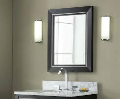 contemporary bathroom mirror with glass shelf the bathroom for