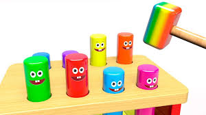 learn colors with pounding bench wooden toys for kids video