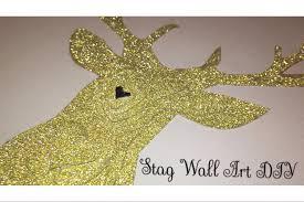 diy 3d stag wall art tutorial easy home decor diy youtube