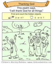 children s church bulletin about thanksgiving for ages 7 12