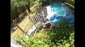 gopro zipline into pool youtube