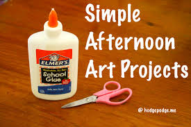 Fun Projects To Do At Home by 10 Simple Afternoon Art Projects Hodgepodge