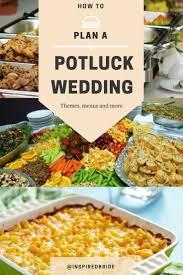 how to plan a potluck wedding inspired bride