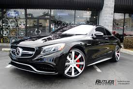 mercedes s class wheels mercedes s class coupe with 22in savini sv28 wheels exclusively