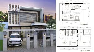 home plan sketchup modern home plan 9x9m