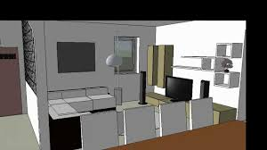 Sketchup Kitchen Design Interior Design Google Sketchup 8 Youtube