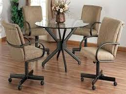 kitchen table and chairs with casters kitchen chairs with casters table and wheels lovely wholesale