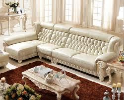 canapé avec pouf luxe italienne salon blanc en cuir canapé avec pouf