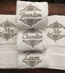 wedding gift towels best 25 towel embroidery ideas on dish towel