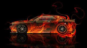 subaru fire dodge challenger muscle side fire car 2014 el tony
