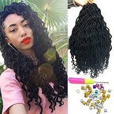 crochet hair extensions 6pcs lot goddess faux locs curly crochet hair extensions crochet
