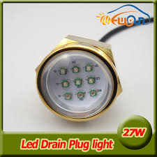 Boat Drain Plug Light 27w Ip68 Waterproof 9 Led Boat Drain Plug Light Rgb 12v 24v Led