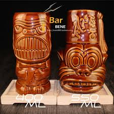 Tiki Home Decor Aliexpress Com Buy Tea Coffee Mugs Ceramic Tiki Mug Milk Mug