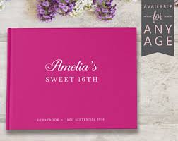 sweet 16 guest sign in book sweet 16 guest book etsy