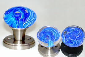 blue glass door knob i35 about fancy interior decor home with blue