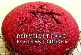 red velvet cake eggless cooker valentines day treat easy
