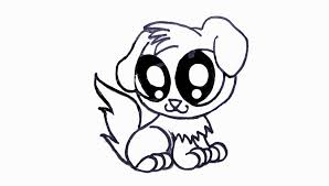 coloring pages nice puppy drawing easy face puppies