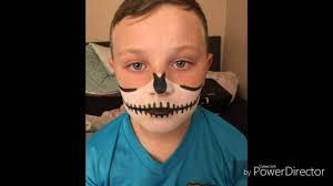 halloween skeleton makeup tutorial kids childrens fancy dress