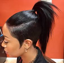 hairstyle to distract feom neck tapered pony tail ponytails pinterest pony hair style and