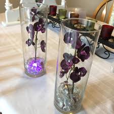 Led Lights In Vases Find More Must Sell Set Of 14 Centerpiece Vases With Dark Purple