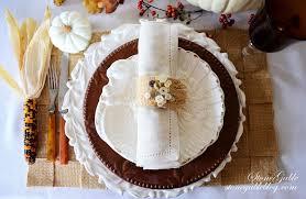 thanksgiving napkin rings craft no sew thanksgiving showcase burlap webbing placemat and napkin