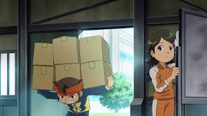image endou and aki cleaning the soccer room iemovie hq png
