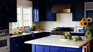 kitchen unique blue two tone kitchen cabinets with white tile