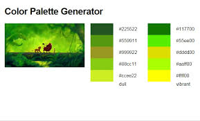 this online tool generates color palettes from images on the