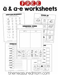 10 free short a u0026 a e worksheets the measured mom