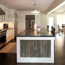 reclaimed wood kitchen island trim design ideas