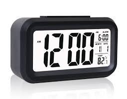 wall mounted digital alarm clock amazon com eridge slim digital lcd alarm clock travel clocks