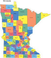 mn counties map minnesota map with counties