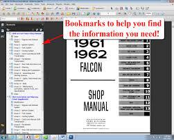 1960 1963 ford falcon shop manual ford motor company david e