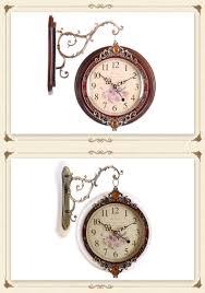 wood crafts quartz wall clock classical clocks for home decor