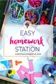 Kids Homework Station by Easy Homework Station Chaotically Creative