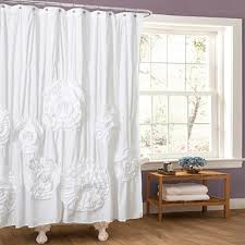 white ruffle shower curtain kirklands