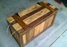 Recycled Wood by False Bottom Trunk From Reclaimed Wood Pallets 7 Steps With