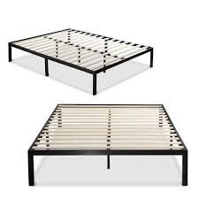 Metal Bed Frame No Boxspring Needed Size Black Metal Platform Bed Frame With Wood Slats No Box