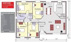 plan maison 90m2 plain pied 3 chambres plan maison 90m2 plain pied