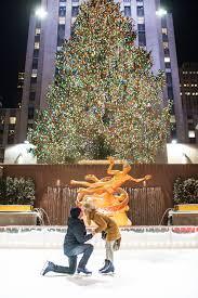 rockefeller christmas tree proposal at the skating rink ash fox