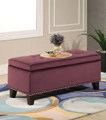 Purple Storage Ottoman Ottomans Benches Storage Ottoman Purple