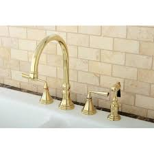polished brass kitchen faucets polished brass 4 kitchen faucet and brass sprayer free