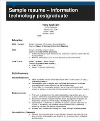Sample Resume Information Technology by It Resume 8 Free Word Pdf Documents Download Free U0026 Premium