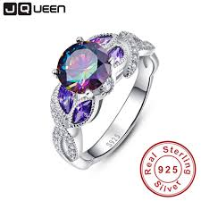 jewelry rings sapphire images Mystical rainbow topaz 925 sterling silver rings sapphire jpg