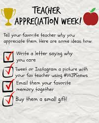 A Letter To Teacher Thanking You Time To Appreciate The Things Teachers Do Wjps News