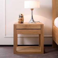 bedside table ethnicraft azur oak bedside table solid wood furniture