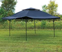 Trail Pop Up Awning 16 U0027 X 16 U0027 Blue Canopy Patio Lawn Pop Up Shade Tent Gazebo Vented
