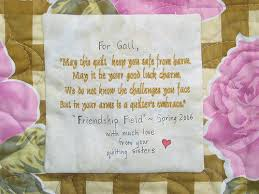 wedding quilt sayings chasing cottons do you label your quilts