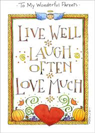live well laugh often thanksgiving card by recycled paper greetings