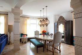 Black And Cream Dining Room - furniture awesome moroccan dining room with moroccan wall decor